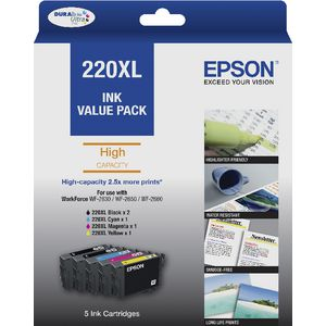 Epson 220XL Ink Cartridge 5 Pack