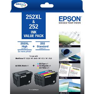 Epson 252XL Black and 252 Colour Ink Cartridges Value Pack
