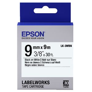 Epson LK Standard Tape 9mm x 9m Black on White