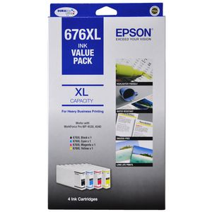 Epson 676XL Black and Colour Ink Cartridge Value Pack