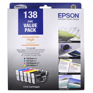Epson 138 Ink Cartridge High Capacity Value Pack
