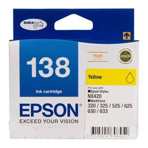 Epson 138 High Capacity Ink Cartridge Yellow
