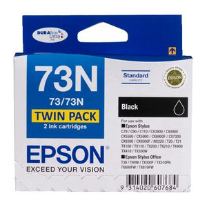 Epson 73 Ink Cartridge Black 2 Pack