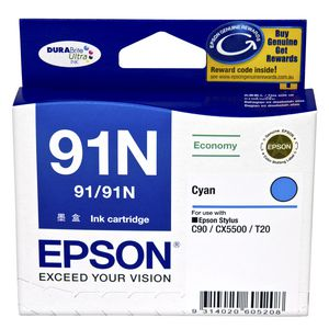 Epson 91 Ink Cartridge Cyan