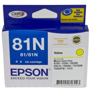Epson 81N High Capacity Ink Cartridge Yellow