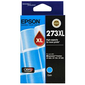 Epson 273XL High Capacity Ink Cartridge Cyan