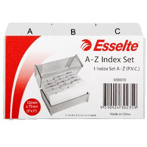 Esselte 76 x 127mm A-Z Index Set PVC