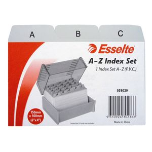 Esselte 102 x 152mm A-Z Index Set PVC