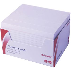 Esselte 102 mm x 152 mm System Cards White  500 Pack