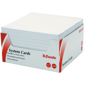 Esselte System Cards 76 x 127mm White 500 Pack
