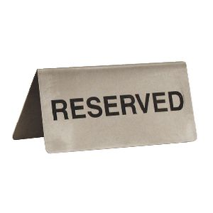 Esselte Metal Reserved Signs 10 Pack