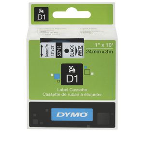 DYMO D1 Label Cassette 24mm Black on White