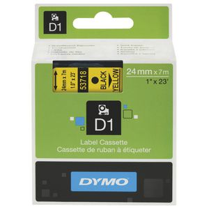 DYMO D1 Label Cassette 24mm Black on Yellow