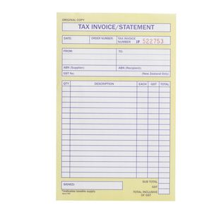 Spirax Invoice And Statement Book No Officeworks - Invoice pads