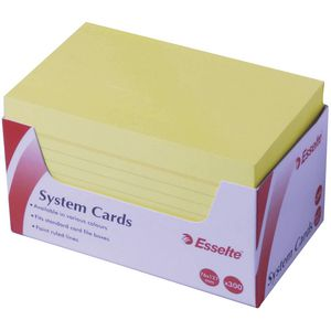 Esselte 76 mm x 127 mm System Cards Yellow 300 Pack