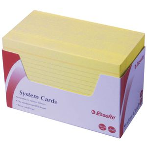 Esselte 102 mm x 152 mm System Cards Yellow 300 Pack
