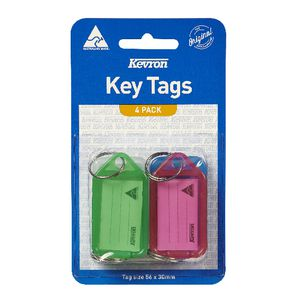 Kevron ID5 Fluoro Key Tags 4 Pack
