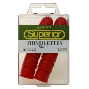 Esselte Superior Size 1 Thimblettes Red 10 Pack