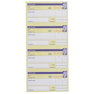 Spirax No.552 Carbonless Petty Cash Book