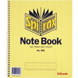 Spirax No. 592 Notebook 222 x 178mm 120 Page