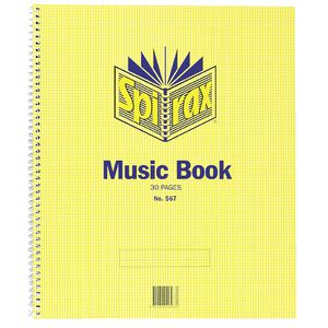 Spirax No. 567 Music Book