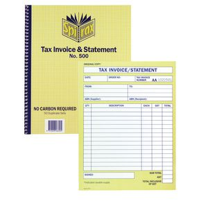 spirax tax invoice and statement book no.500 | officeworks, Invoice examples