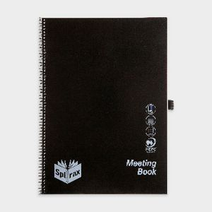 Spirax A4 PP Meeting Book 140 Page
