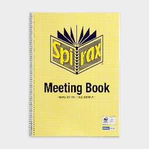 Spirax A4 Cardboard Meeting Book 140 Page