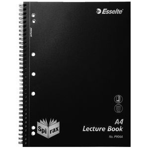 Spirax PP Lecture Book 250 Page Black