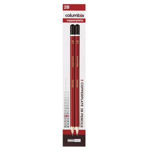 Columbia Copperplate Lead Pencil Hexagonal 2B 2 Pack