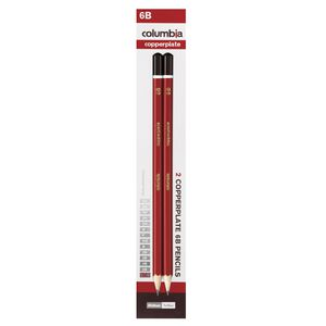 Columbia Copperplate Lead Pencil Hexagonal 6B 2 Pack