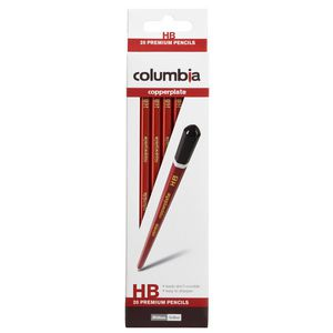 Columbia Copperplate Hexagonal Lead Pencil HB 20 Pack