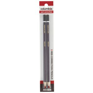 Columbia Correction Pencils Red 2 Pack