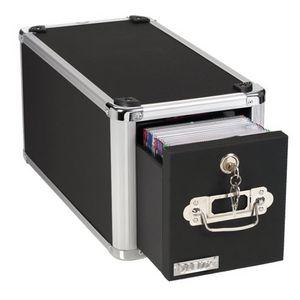 Vaultz Lockable Single Drawer CD File Cabinet Black | Tuggl