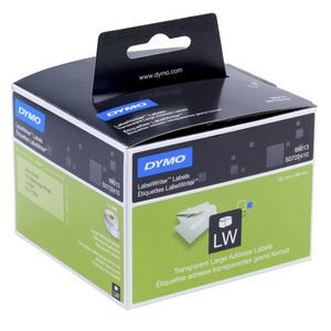 DYMO LabelWriter 36 x 89mm Address Labels Clear 99013