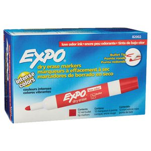 Expo Whiteboard Marker Red 12 Pack