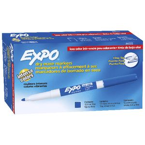 Expo Fine Whiteboard Marker Blue 12 Pack
