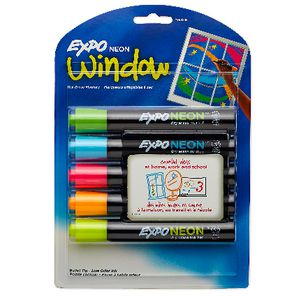 Expo Whiteboard Markers Bullet Tip Neon 5 Pack