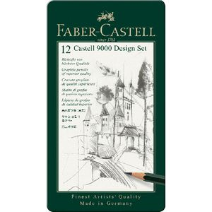 Faber-Castell Jumbo 9000 Tin Set 12 Pieces