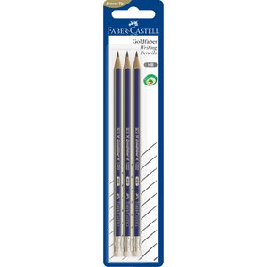 Faber-Castell GoldFaber Eraser Tip Graphite Pencils 3 Pack