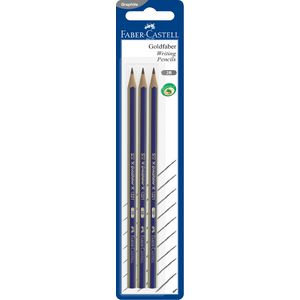 Faber-Castell Goldfaber Pencils 2B 3 Pack