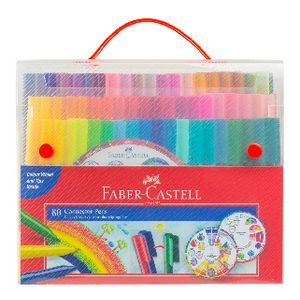 Faber-Castell Connector Pens with Colour Wheel 80 Pack