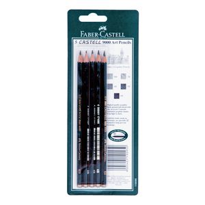 Faber-Castell 9000 Art Pencils Assorted Lead 5 Pack