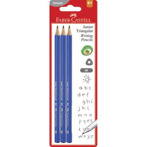 Faber-Castell Junior Triangular Pencils 2B 3 Pack