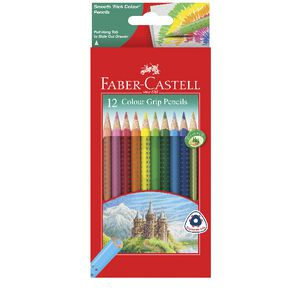 Faber-Castell Colour Grip Triangular Pencils 12 Pack