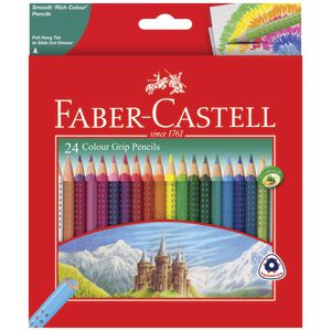 Faber-Castell Colour Grip Triangular Pencils 24 Pack