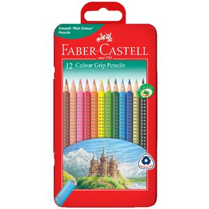 Faber-Castell Colour Grip Triangular Pencils Tin 12 Pack