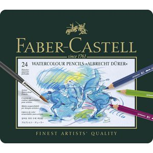 Faber-Castell Albrecht Durer Watercolour Pencils Tin 24 Pack