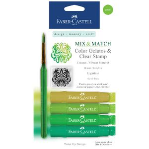 Faber-Castell Gelatos Green 4 Pack