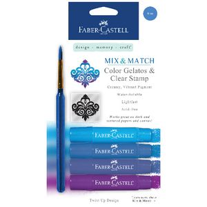 Faber-Castell Gelatos Blue 4 Pack